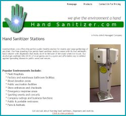 Hand Sanitizer Site